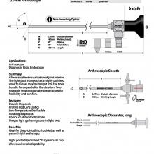 30 Deg. 2.7mm O.D. Arthroscope 140mm W.L. with Cannula and Obturator