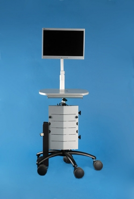 Point of Care Cart with AC Power (monitor and monitor arm available separately)