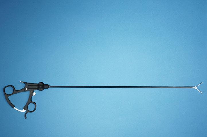 Forceps, 5mm O.D., 420mm W.L., Babcock w/Ratchet