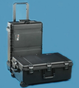 Hard Resin-Fiber Rolling Cases with Custom Foam and Telescoping Handles