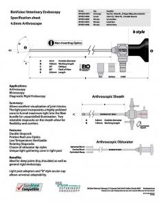 Obturator pyramidal sharp for 4mm arthroscope